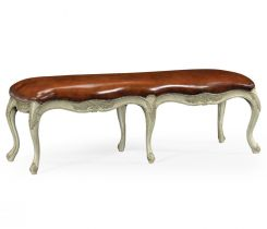 Jonathan Charles Bench French Provincial in Pale Green