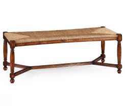 Jonathan Charles Bench Cottage with Rushed Seat