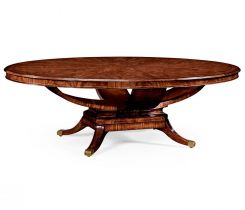 Jonathan Charles Oval Dining Table Biedermeier in Mahogany