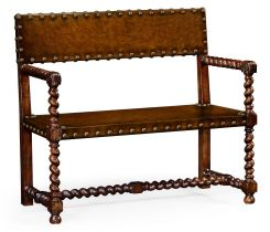 Jonathan Charles Bench Tudor Style in Leather