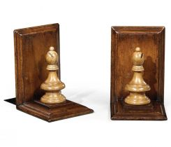 Jonathan Charles Bookends Chess Piece Bishop