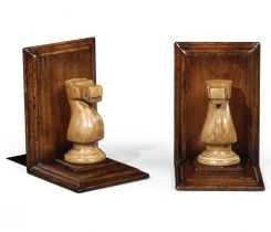 Jonathan Charles Bookends Chess Piece Knight