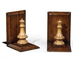 Jonathan Charles Bookends Chess Piece Queen