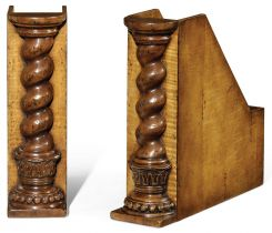 Jonathan Charles Bookends Twisted Column Box File