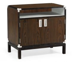Jonathan Charles Bedside Cabinet Military in Santos Rosewood