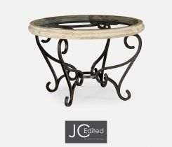 Jonathan Charles Centre Table with Wrought Iron Base