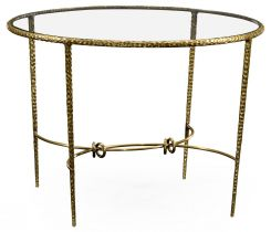 Jonathan Charles Centre Table Hammered