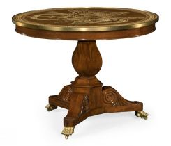 Jonathan Charles Centre Table Medium Mahogany & Marquetry Right Hall Tilted Top