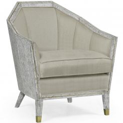 Jonathan Charles Armchair Transitional in Light French Oak