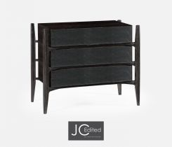 Jonathan Charles Chest of Drawers Architectural in Leather