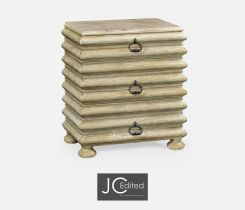Jonathan Charles Bedside Chest of Drawers Eclectic with Marble Top