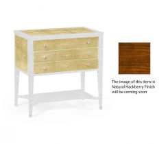 Jonathan Charles Chest of 3 Drawers Ivory Faux Shagreen