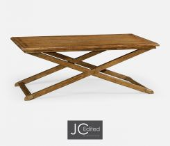 Jonathan Charles Tray Top Coffee Table in Brown Chestnut