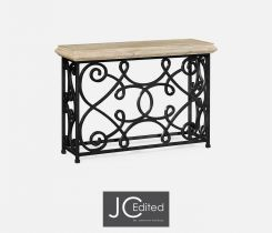Jonathan Charles Small Console Table Wrought Iron