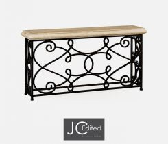 Jonathan Charles Large Console Table Wrought Iron