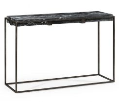 Jonathan Charles Outdoor Console Table with Black Marble Top