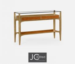 Jonathan Charles Console Table Architectural in Oak