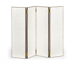 Jonathan Charles Folding Screen Crackle Ceramic Lacquer