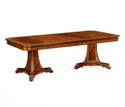 Jonathan Charles Extending Dining Table Neoclassical in Walnut