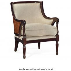 Jonathan Charles Curved Accent Chair Malaysian in COM