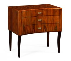 Jonathan Charles Curved Bedside Chest of Drawers