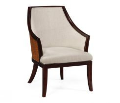 Jonathan Charles Curved Dining Chair Malaysian in Mazo