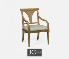 Jonathan Charles Dining Chair with Arms English in Mazo