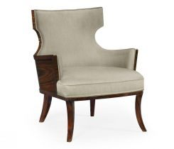 Jonathan Charles Wing Back Accent Chair Dark Santos in Mazo