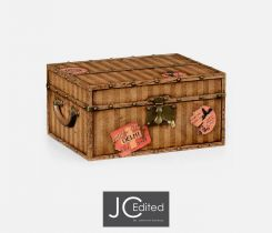 Jonathan Charles Decorative Box Travel Trunk with Map Inlay