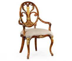Jonathan Charles Dining Armchair Monarch with Oval Back