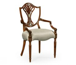 Jonathan Charles Dining Armchair Renaissance with Mother of Pearl Details
