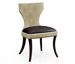 Jonathan Charles Dining Chair Klismos in Champagne Sycamore Finish