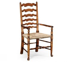Jonathan Charles Dining Armchair Cottage with Rushed Seat