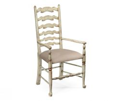 Jonathan Charles Dining Chair with Arms Cottage in Mazo