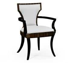 Jonathan Charles Dining Chair with Arm in Ebony Lustre