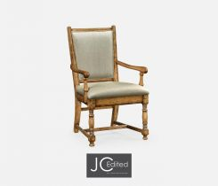 Jonathan Charles Dining Chair with Arms Country Chestnut