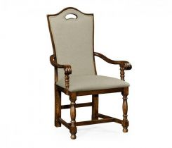 Jonathan Charles Upholstered Dining Chair with Arms Cottage