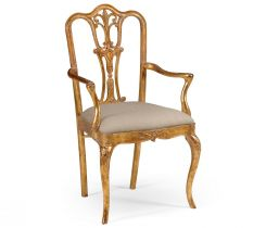 Jonathan Charles Dining Chair with Arms Louis XV