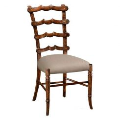 Jonathan Charles Dining Chair Yoke Ladderback in Walnut