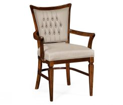 Jonathan Charles Dining Chair with Arms Calista