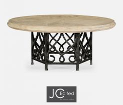 Jonathan Charles Round Dining Table Wrought Iron