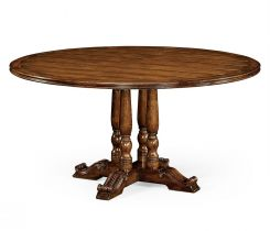 Jonathan Charles Round Dining Table French in Walnut
