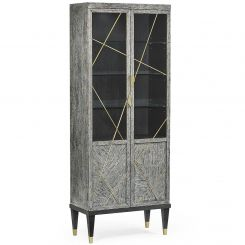 Jonathan Charles Display Cabinet Transitional - Dark French Oak