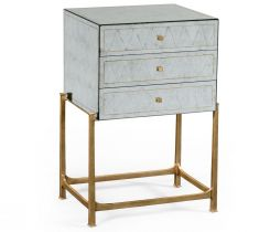 Jonathan Charles Small Chest of Drawers 1930s in Eglomise