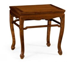 Jonathan Charles End Table Imperial Mahogany Cabriole Leg Chinese