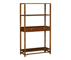 Jonathan Charles Etagere with Drawers Three-Tiered Ming Imperial Mahogany