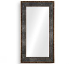 Jonathan Charles Floor Mirror in Anthracite Shagreen
