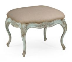 Jonathan Charles Large Footstool French Provincial in Pale Green