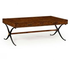Jonathan Charles Coffee Table Industrial with Drawers
