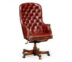 Jonathan Charles High Back Office Chair Chesterfield Style